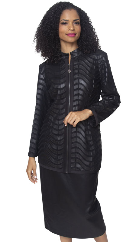 Diana Couture J2010-BL ( 1pc Black Designer Jacket )