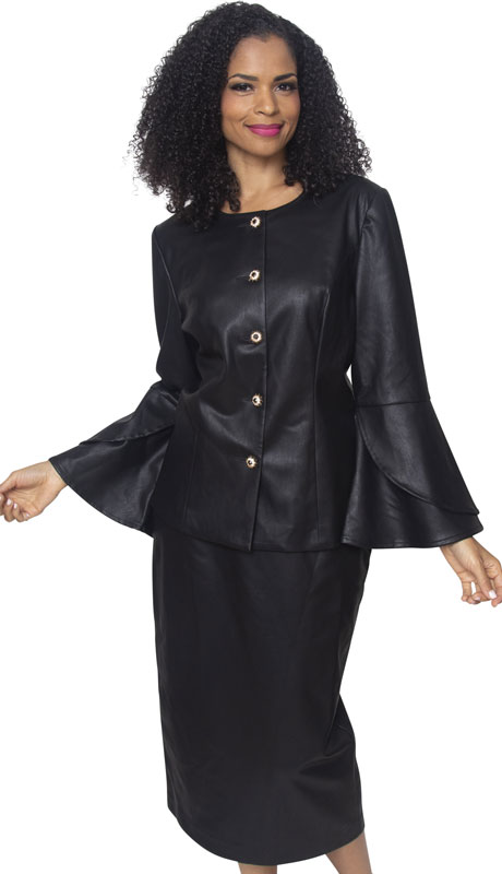 Diana Couture L2006-BL ( 2pc Novelty Silk Sunday Suit )