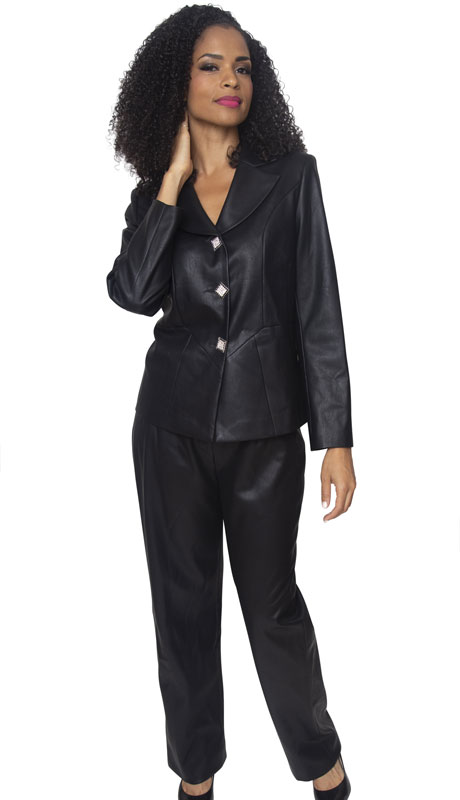 Diana Couture L2007-BL ( 2pc Novelty Ladies Sunday Pant Suit )