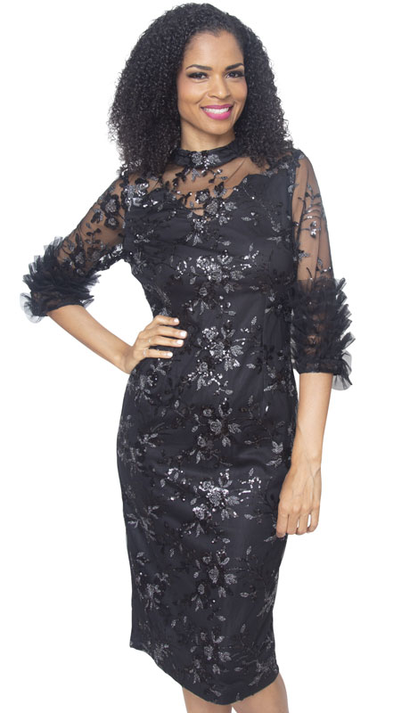 Diana Couture D2016-BL ( 1pc Novelty First Lady Dress )