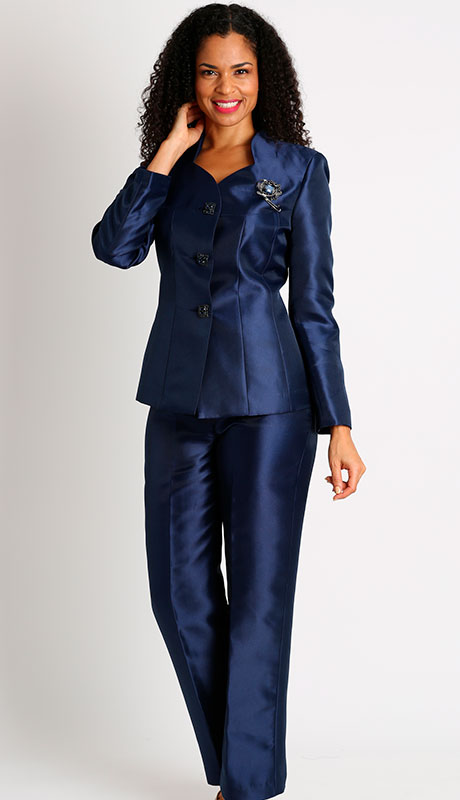 Diana Couture 8428-NA-CO ( 2pc Silk First Lady Pant Suit )