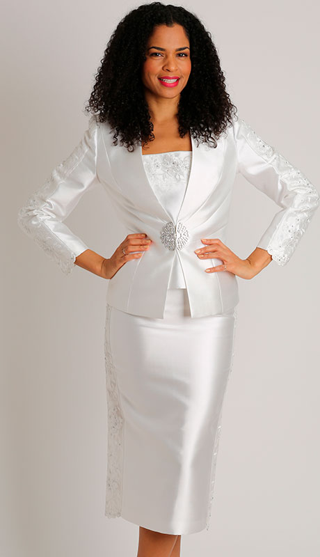 Dianna Couture 8453-IV ( 3pc Silk Ladies Church Suit )