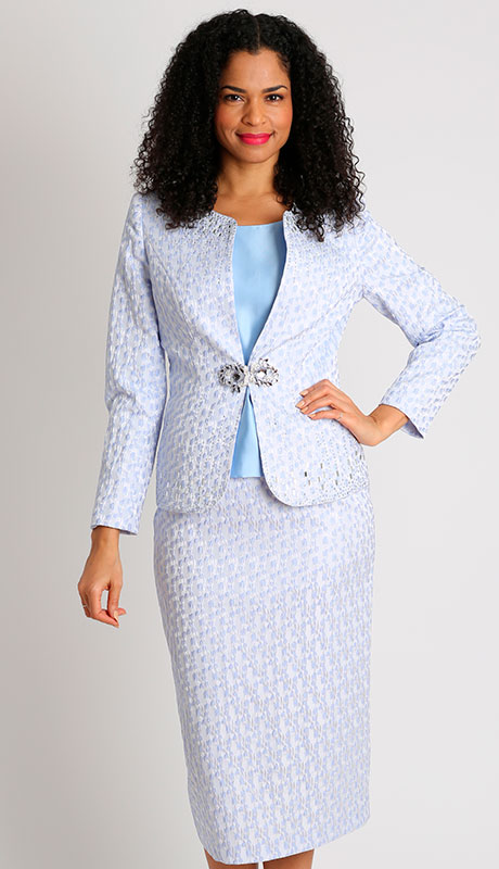 Dianna Couture 8502-LA ( 3pc First Lady Suit With Brocade )