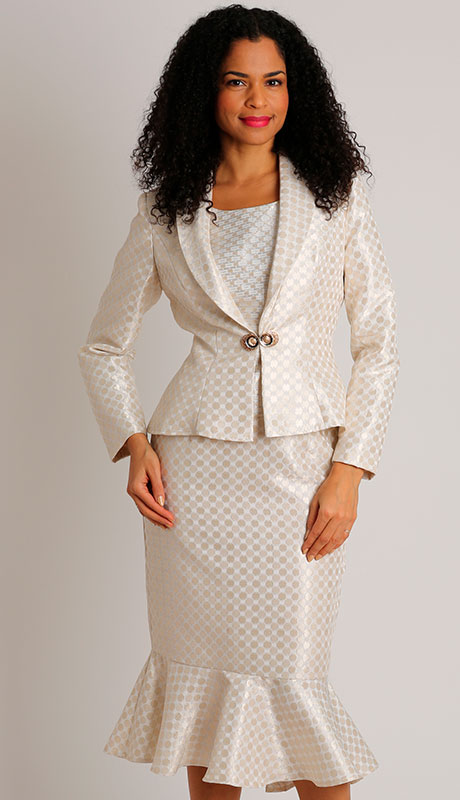 Dianna Couture 8505-CH ( 3pc SIlk First Lady Suit )