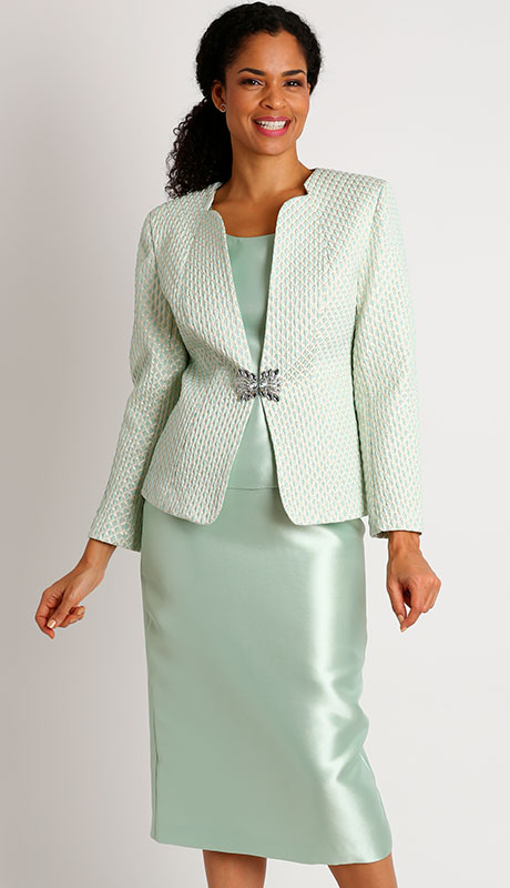 Dianna Couture 8401-MI ( 3pc Brocade Womans Sunday Suit )