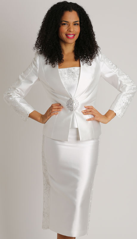 Dianna Couture 8453-IV ( 3pc Silk Novelty Ladies Church Suit )