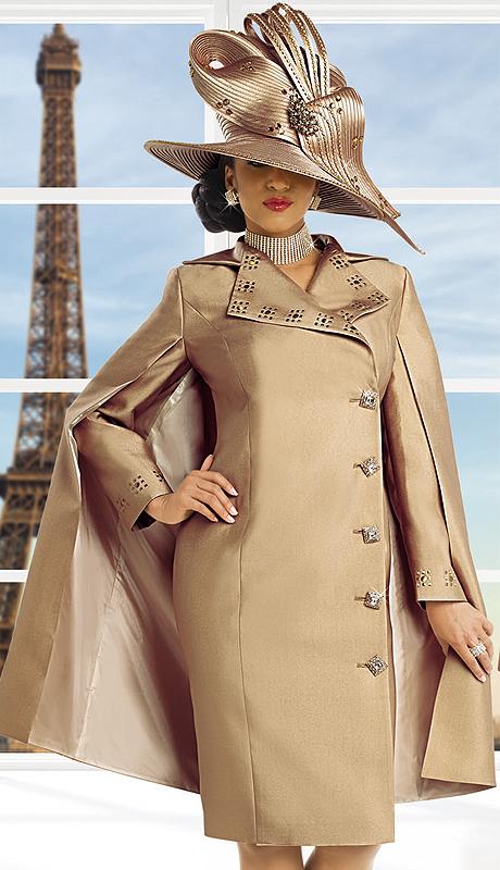 Donna Vinci 11510 Al 2ppc Ladies Church Dress With Attached Cape