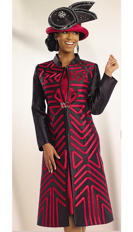 Donna Vinvi 5531 Bwco 2 Pc Ladies Church Dress With Geometric