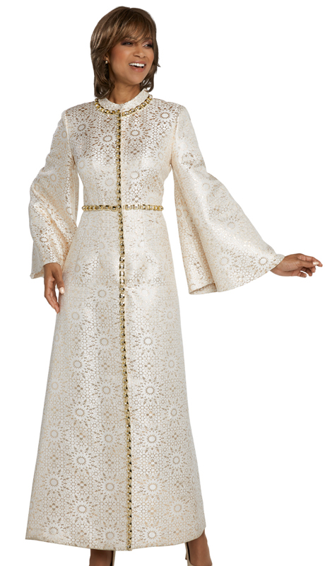 Donna Vinci 5662-BG ( 1pc Exclusive Novelty Church Dress With Rhinestone Trims )