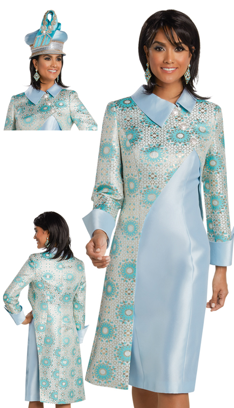Donna Vinci 11760 ( 2pc Exclusive Novelty First Lady Suit With Beautiful Rhinestone Buttons )