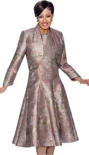 Dorinda Clark Cole 1432 ( 2pc Pleated A-Line Dress & Bolero Style Jacket )