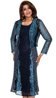 Dorinda Clark Cole 312-IH ( 2pc Lace Women Church  Dress With Lace )