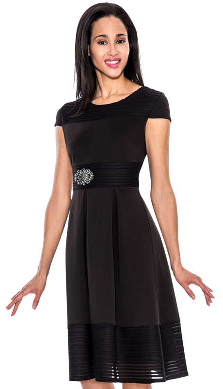 Nubiano 4401-BLK-IH ( 1pc Renova Church Dress )
