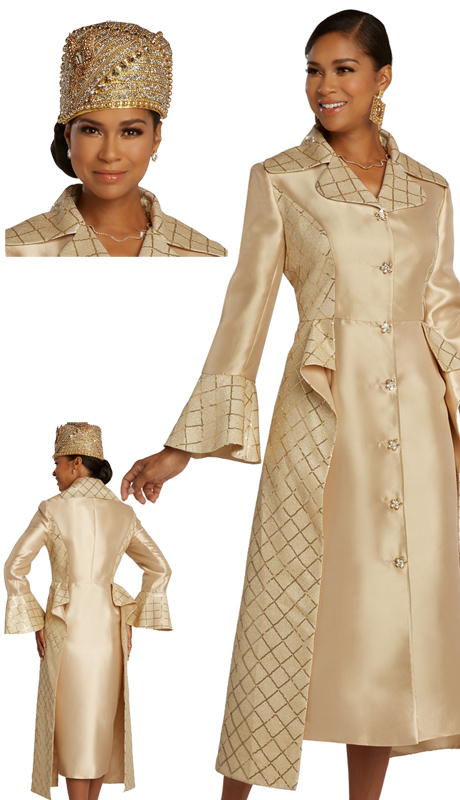 Donna Vinci 11831 ( 1pc Exclusive Silk With Novelty Womens Church Suit With Beautiful Rhinestone Buttons )