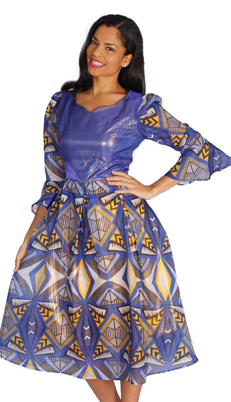 Diana Couture 8542-MU ( 1pc Novelty Ladies Church Dress )