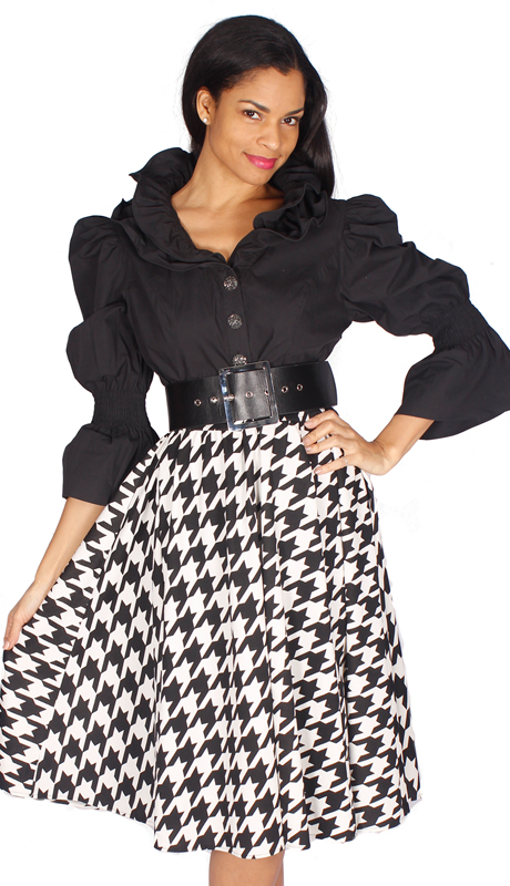 Diana Couture 8540-BW ( 1pc Novelty Ladies Church Dress )