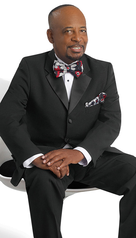 Mens Tuxedo By EJ Samuel TUX103-BLK ( 2pc Single Breasted, 3 Button And 2 Flap Pockets With Notch Lapels, Solid Color Tuxedo )