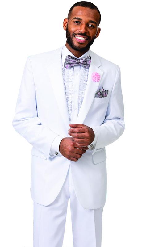 EJ Samuel STUX-101-WH ( 2pc Mens Tuxedo )
