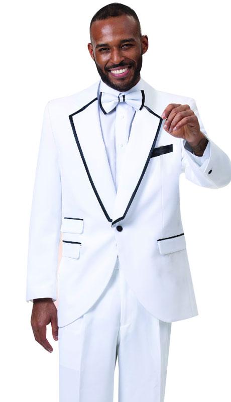 EJ Samuel STUX-117-WH ( 2pc Mens Tuxedo )