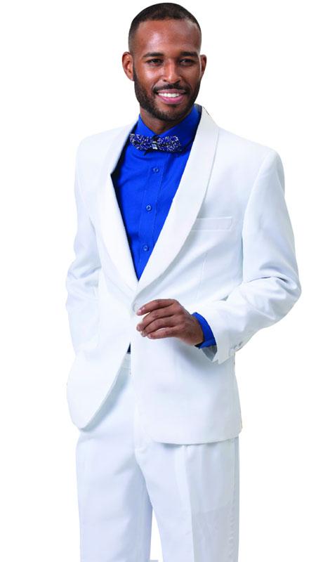 EJ Samuel STUX-201-WH ( 2pc Mens Tuxedo )