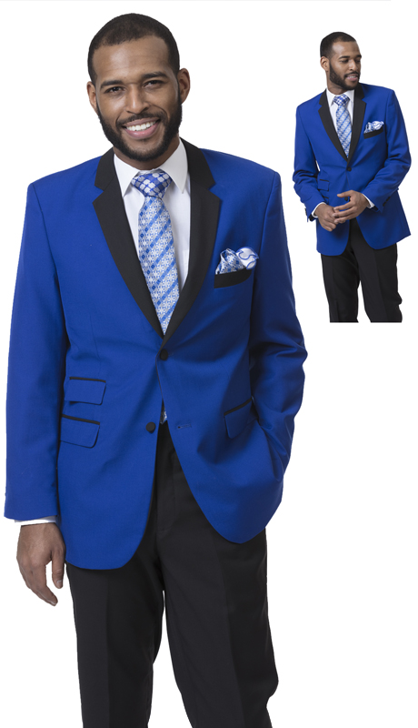 EJ Samuel M3211 ( 2pc Single Breasted Two Tone Mens Suit, Super 140's )