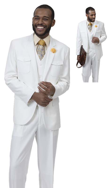 EJ Samuel M2686 ( 3pc Mens Fashion Suit, Super 140's )