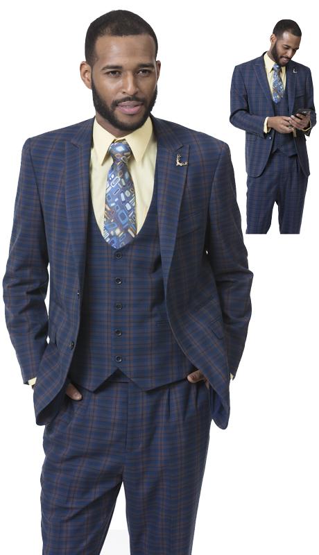 EJ Samuel M2713-CO ( 3pc Mens Fashion Suit )