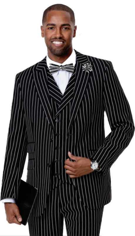 EJ Samuel M2729 ( 3pc Mens Fashion Suit, Super 140's )