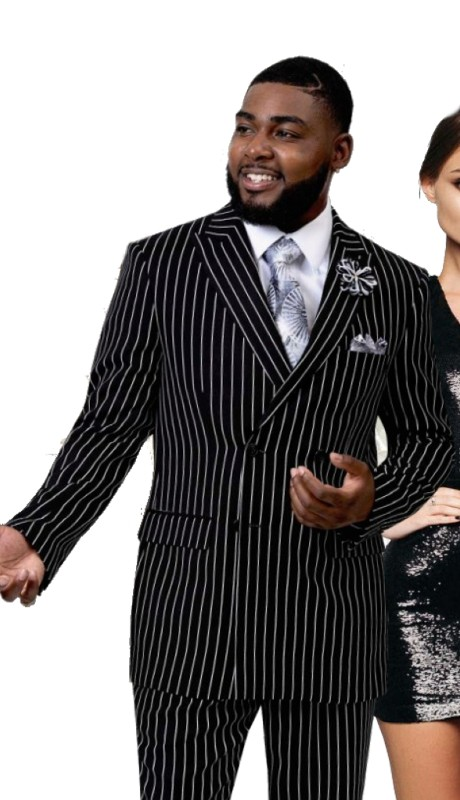 EJ Samuel M2730 ( 2pc Double Breasted Mens Suit )