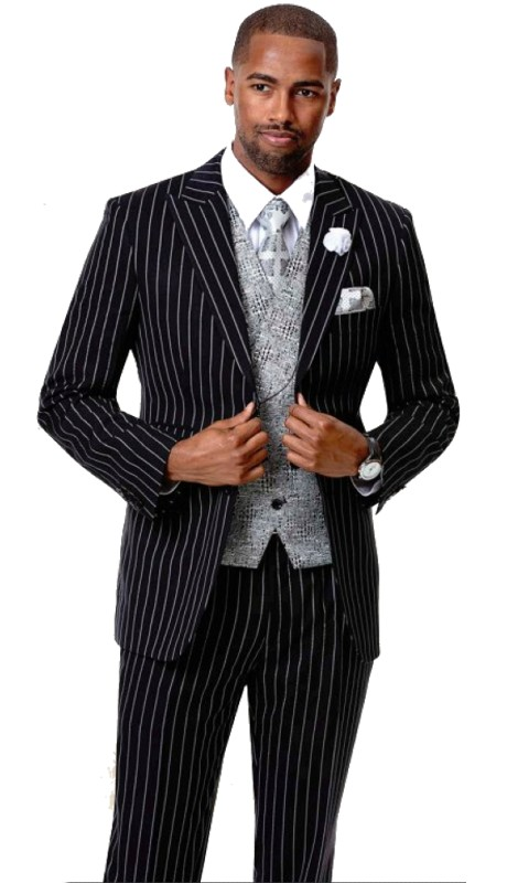 EJ Samuel M2732 ( 3pc Mens Fashion Suit , Super 140's )