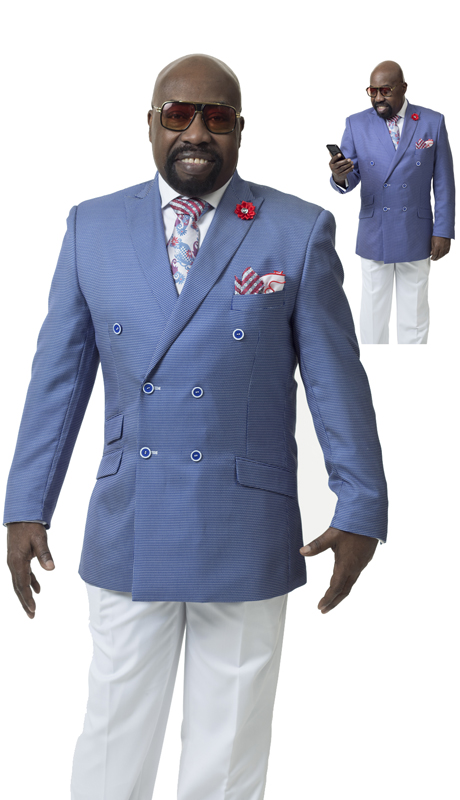 EJ Samuel M2702 ( 2pc Double Breasted Mens Suit )