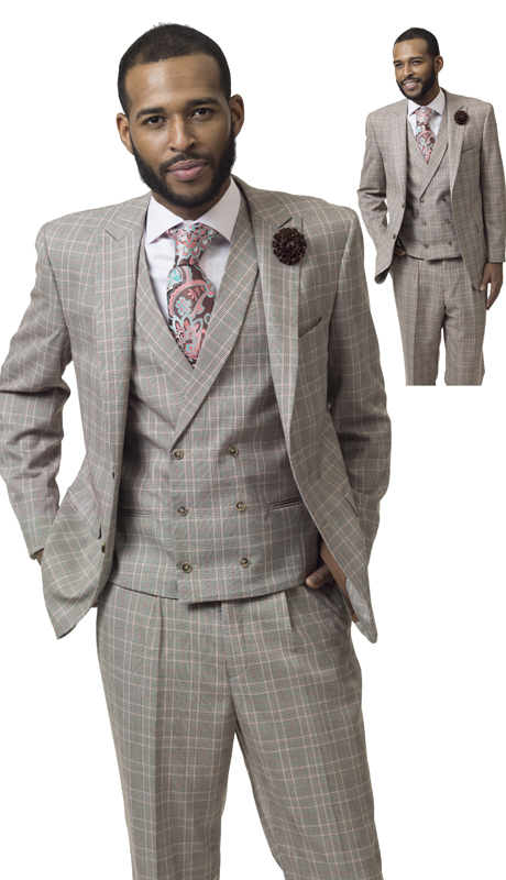 EJ Samuel M2711 ( 3pc Mens Fashion Suit, Super 140's )