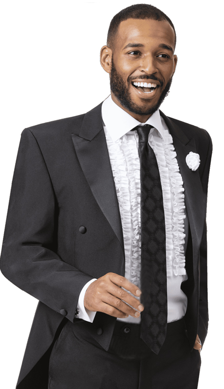 EJ Samuel STUX-107-BK ( 2pc Mens Tuxedo )