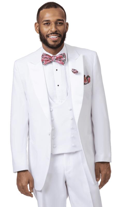 EJ Samuel STUX-104-WH ( 2pc Mens Tuxedo )