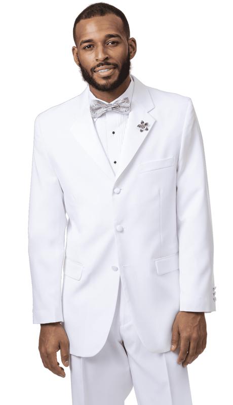 EJ Samuel STUX-103-WH ( 2pc Mens Tuxedo )