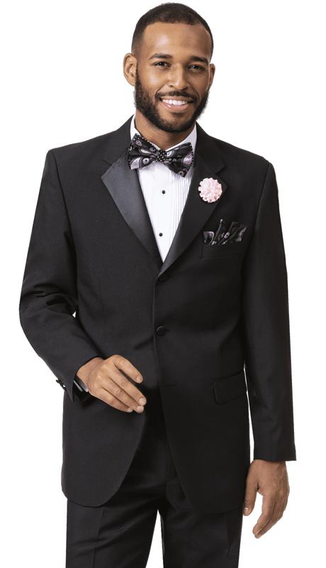 EJ Samuel STUX-103-BK ( 2pc Mens Tuxedo )