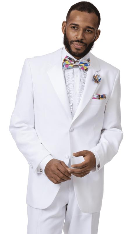 EJ Samuel STUX-102-WH ( 2pc Mens Tuxedo )