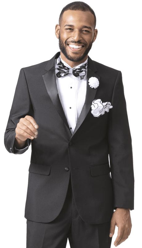 EJ Samuel STUX-102-BK ( 2pc Mens Tuxedo )