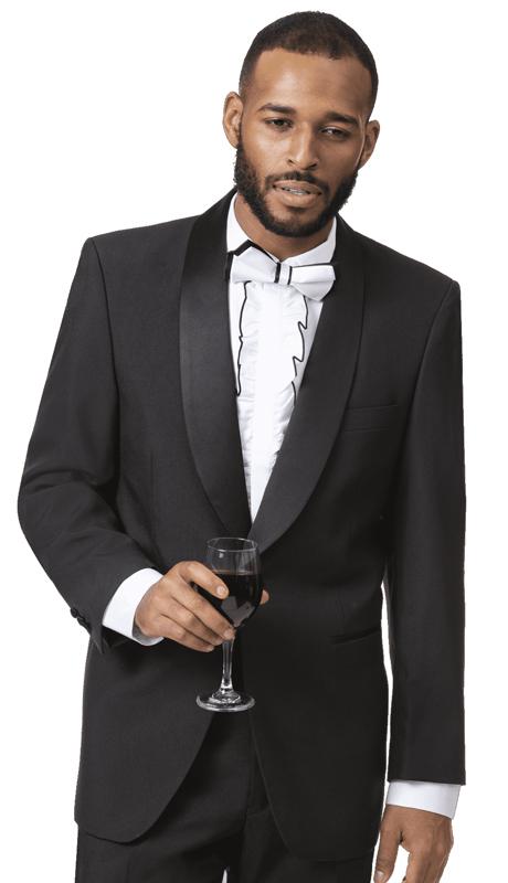 EJ Samuel TUX-201-BK ( 2pc Mens Tuxedo )