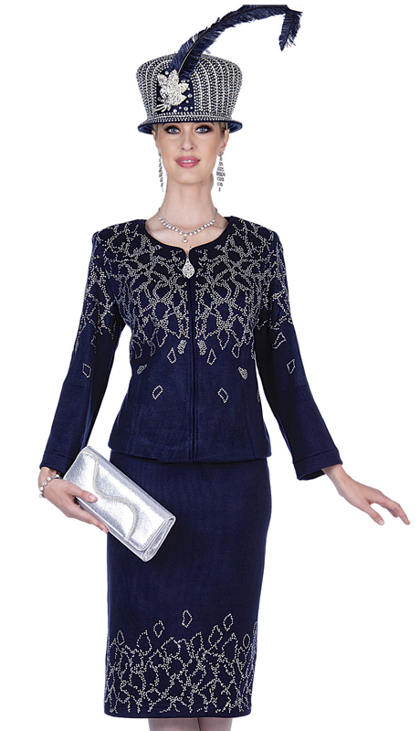 Elite Champagne 5159-NA ( 2pc Exclusive Knit Ladies Sunday Suit )
