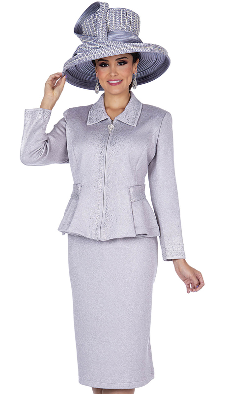 Elite Champagne 5154-PG ( 2pc Exclusive Knit Ladies Sunday Suit )