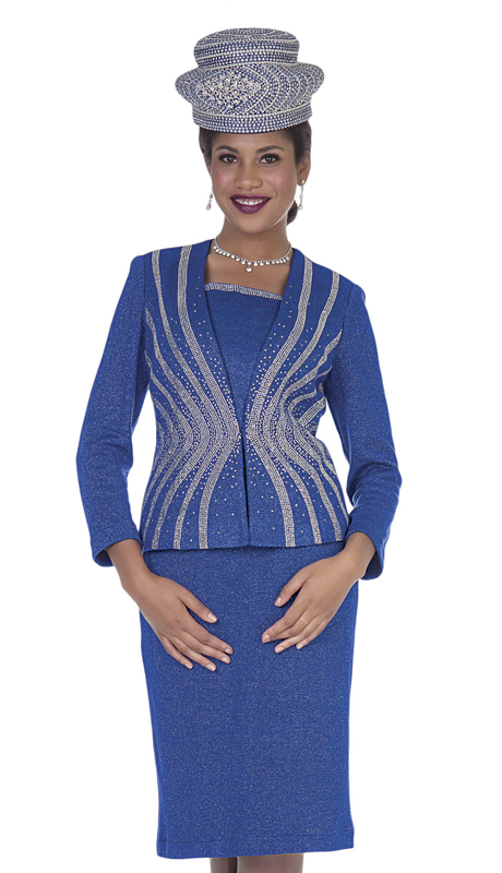 Elite Champagne 5157-RB ( 2pc Exclusive Knit Ladies Sunday Suit )