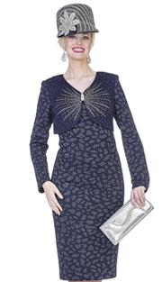 Elite Champagne 4959 ( 2pc Exclusive Knit Ladies Church Dress With Bolero Jacket And Rhinetone Embellishment )