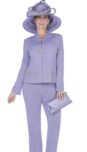 Elite Champagne 5052 ( 3pc Exclusive Knit Ladies Pant Suit With Zipper Front Jacket With Cascading Rhinestone Details And Rhinestone Clasps, Cami And Pant )