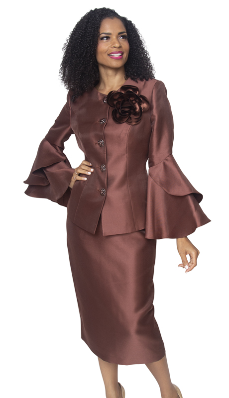 Diana Couture 8277-BR ( 2pc Novelty Womens Sunday Suit )