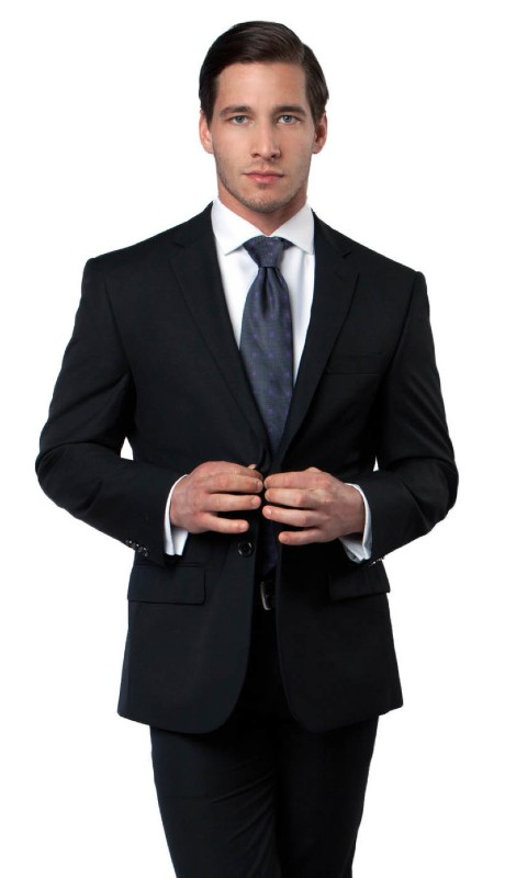 MJ123-01 ( 1pc Mens Two Button Modern Fit Blazer With One Chest Pocket And Two Front Pocket With Flap closure )