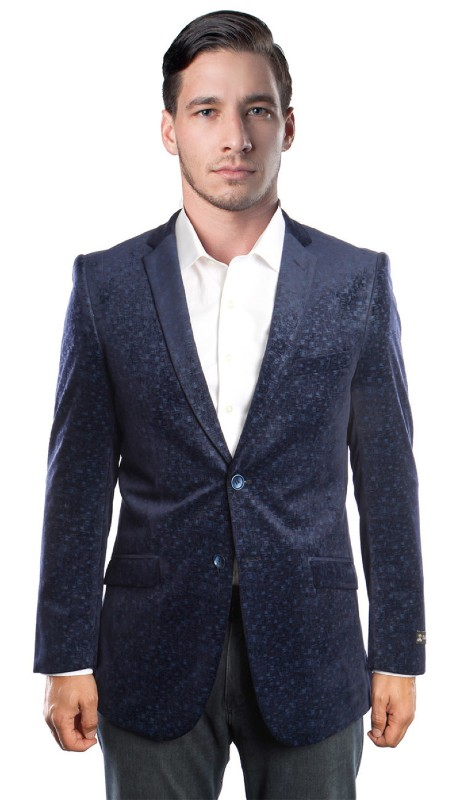MJ177S-C1 ( 1pc Mens Two Button Jacket With One Chest Pocket And Two Front Pocket )