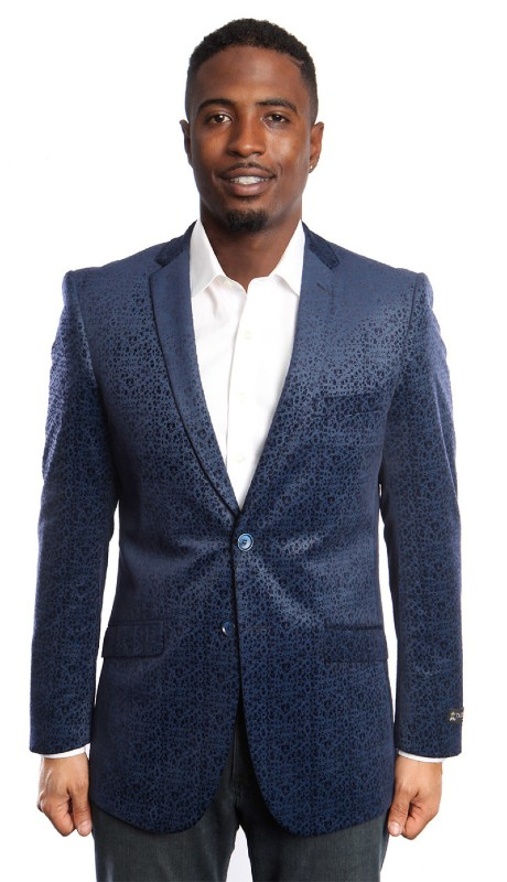 MJ177S-D1 ( 1pc Mens Two Button Jacket With One Chest Pocket And Two Front Pocket )
