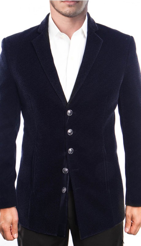 MJ195S-02 ( 1pc Mens Five Button Notch Lapel Slim Fit Solid Jacket With Vertical Pocket )