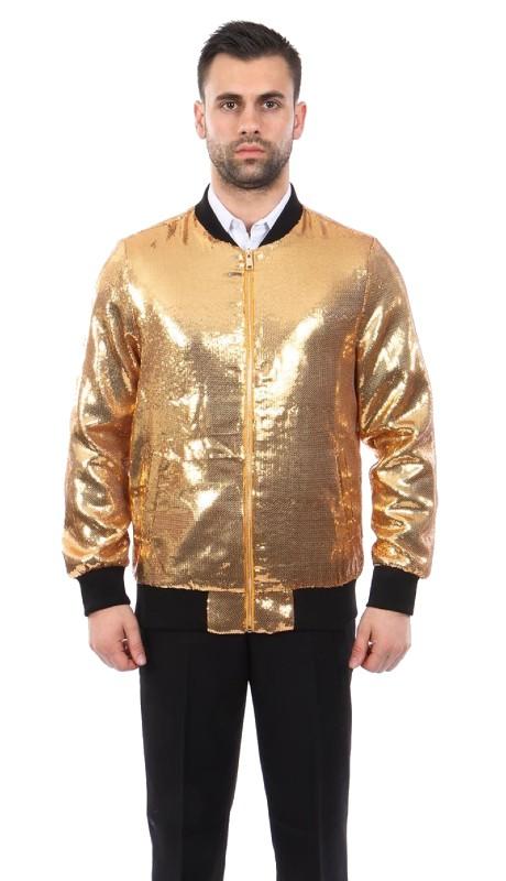 MJ219S-02 ( 1pc Round Neck Sequin Jacket )